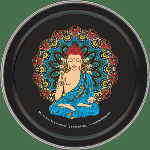 """Stash Tins - Buddha 3.5"""" Round Storage Container"""