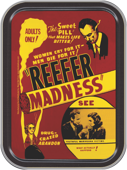 """Stash Tins - Reefer Madness Storage Container 4.37"""" L x 3.5"""" W x 1"""" H"""