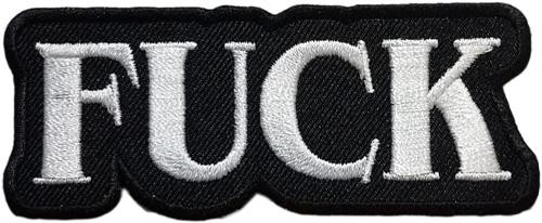 """Fuck Embroidered Sew On Patch - 3 1/4"""" X 1 1/4"""" Image"""