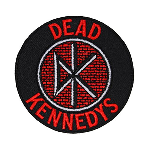 """Dead Kennedys Logo - Iron On Embroidered Patch 3"""" Round Image"""