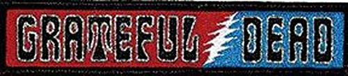 """Grateful Ded Sixties Logo - Iron On Embroidered Patch 5"""" x 1"""" Image"""