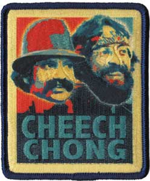 """Cheech & Chong """"Retro"""" - Iron On Embroidered Patch 3"""" x 3.5"""" Image"""