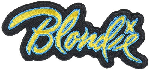 """Blondie - Iron On Embroidered Patch 3.6"""" x 1.5"""""""
