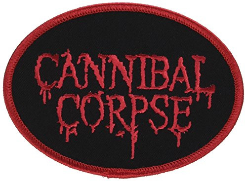 """Cannibal Corpse - Iron On Embroidered Patch 4.25"""" x 3"""""""