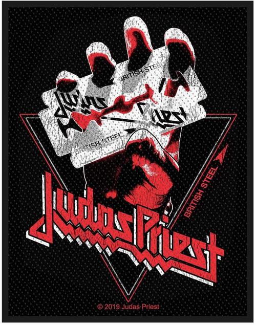 Judas Priest British Steel Vintage Woven Sew On Patch 8cm x 10cm