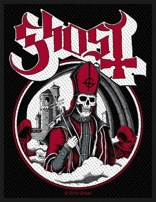 Ghost Secular Haze Woven Sew On Patch 8cm x 10cm