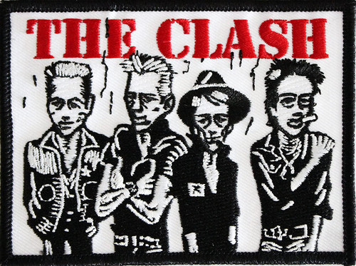 """The Clash Caricature Embroidered Iron-On Patch 3"""" x 4"""""""