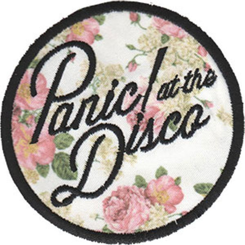 """Panic! At The Disco Floral Logo Embroidered Iron-On Patch 3"""" Round"""