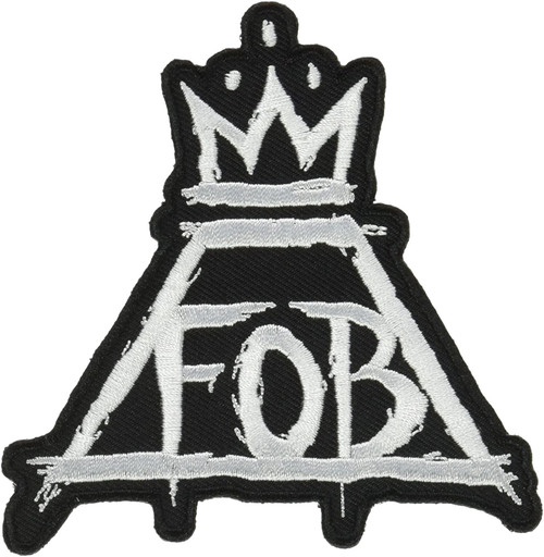"""Fall Out Boy Crown Embroidered Iron-On Patch 3.4"""" x 3.5"""""""""""