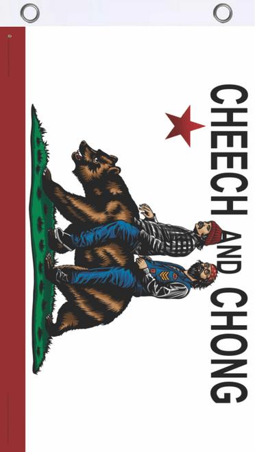 Cheech & Chong Cali Bear Fly Flag