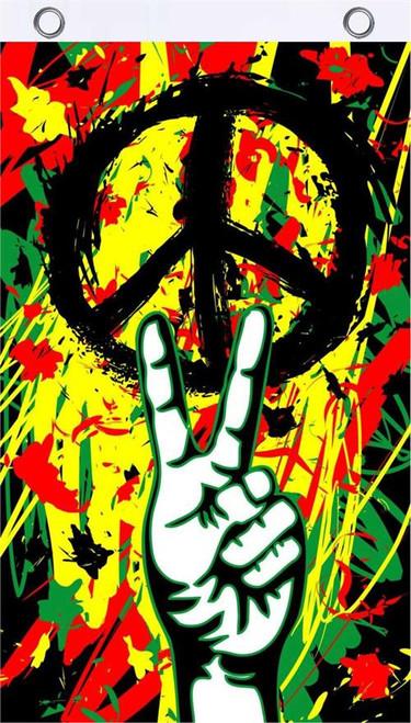 Peace Graffiti Fly Fla 3' x 5' Image
