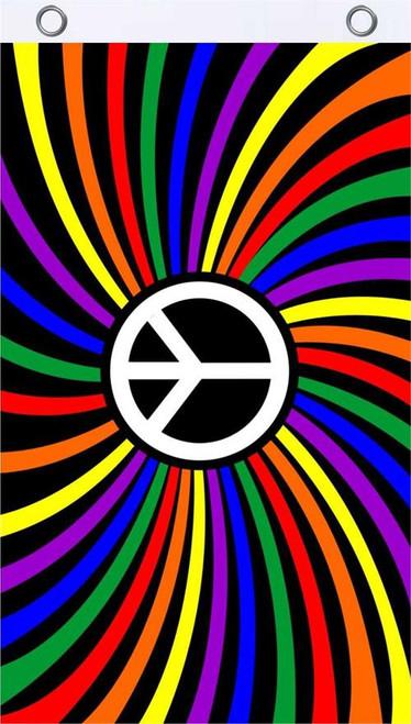 Rainbow Peace Fly Flag 3' x 5' Image