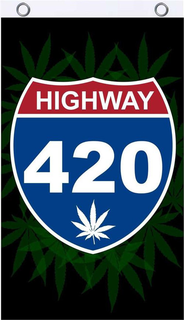 Highway 420 Fly Flag 3' x 5' Image