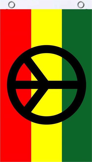 Rasta Peace Fly Flag 3' x 5' Image