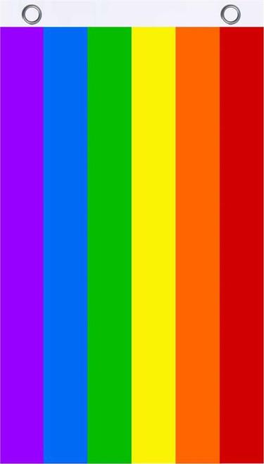 Rainbow Fly Flag 3' x 5' Image