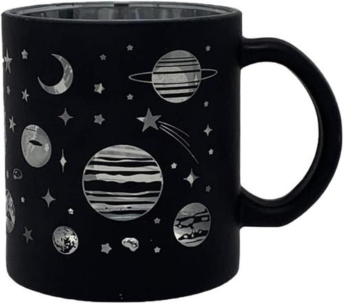 Metallic Glass Coffee Mugs 16oz (Silver)