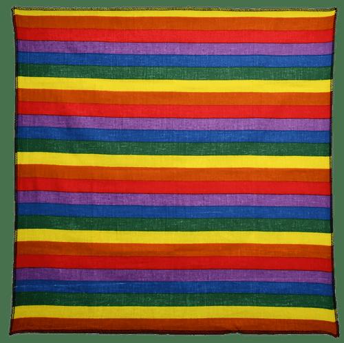 "Bandana - Rainbow - 21"" x 21"" - Cotton"