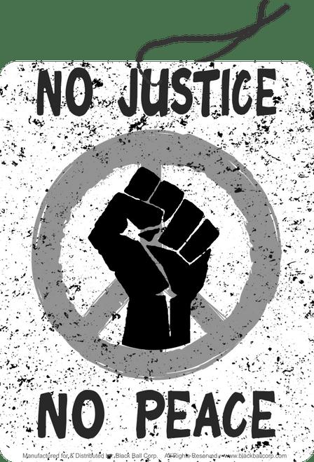 Road Rage Air Freshener - Vanilla Scent - No Justice No Peace Black Fist
