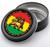 """Stash Tins - Rasta Lion 3.5"""" Round Storage Container"""