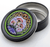 "Stash Tins - Mushroom 2000 3.5"" Round Storage Container - Mike Dubois"