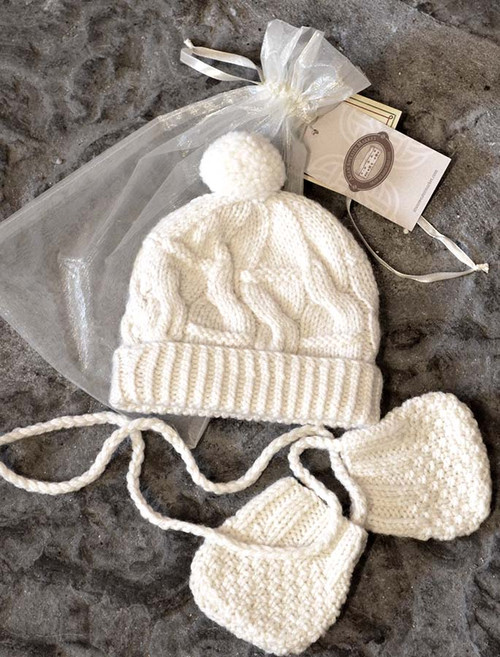 063c5fa3d2a Aran Cable Hat with Ear Flaps
