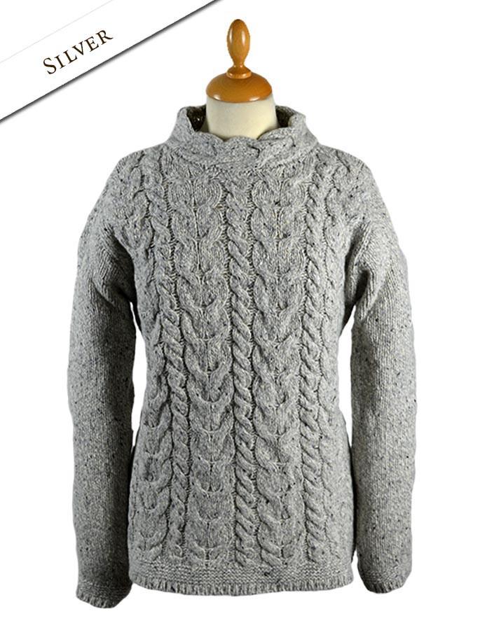 Womens Fisherman Sweater Irish Sweaters For Women Glenaran