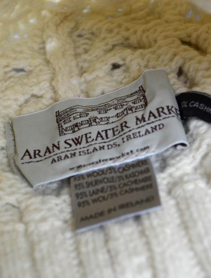 ab95c6700ffc7 Wool Cashmere Aran Honeycomb Hat