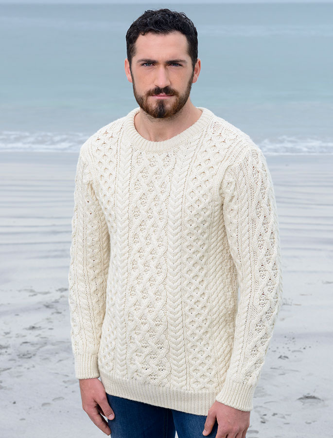 75b8cb106 Lattice Cable Aran Sweater