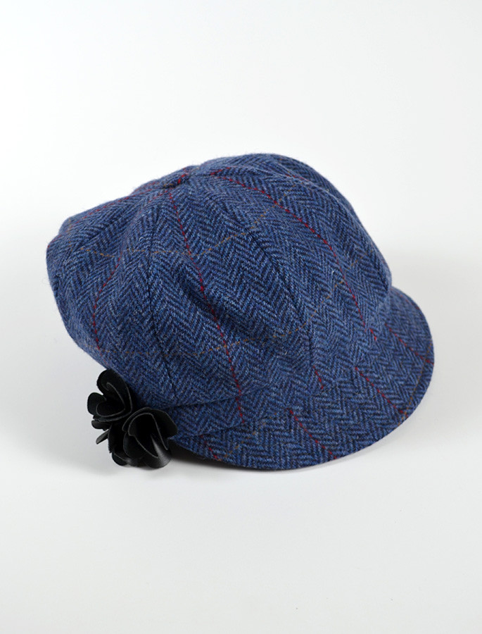 Ladies Tweed Newsboy Hat - Denim 692c24854f5
