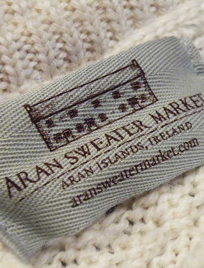 Wool Cashmere Patchwork Aran Sweater