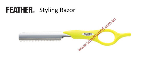 FEATHER Styling Razor- Lime