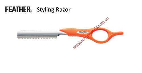 FEATHER Styling Razor- Orange