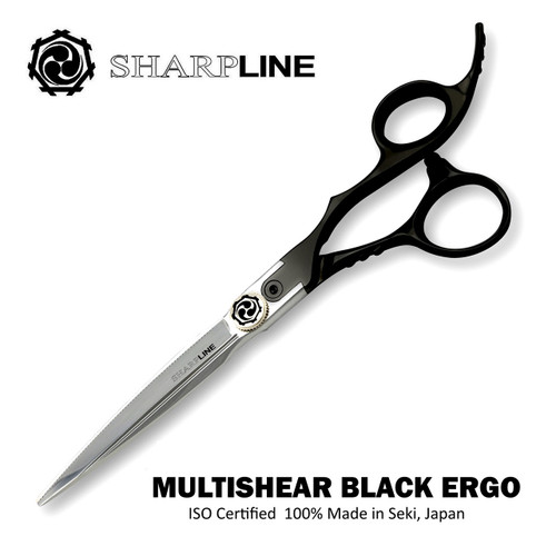 Multishear(tm) ERGO Black Hair Scissor