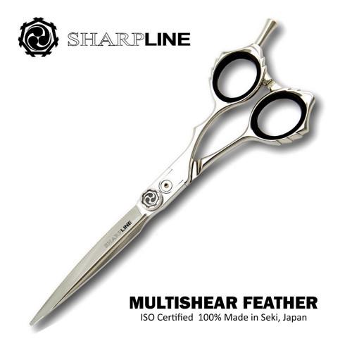 Multishear(tm) FEATHER Stylist Haircutting Scissor