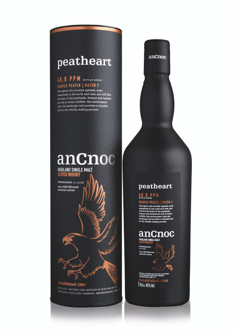 AnCnoc Peatheart Single Malt 700mL