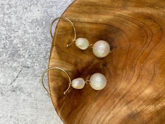 Gold and Drop Pearl Earring