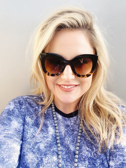Love Lindsey Retro Sunglasses: Tortoise Shell