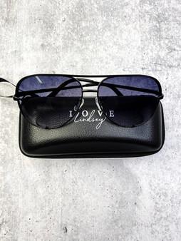 Aviators: Black Lens and Black Frame With Case