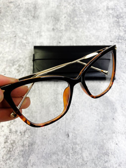 Flirty Blue Light Blocking Glasses: Black with Leopard