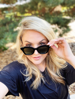 Love Lindsey Sunnies: Black Frame with Black Lens