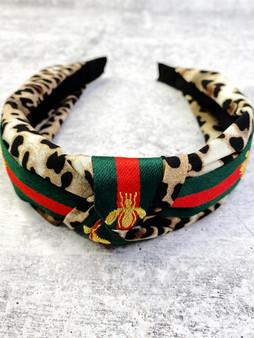 Leopard Bee Headband