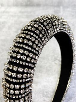 Rhinestone and Crystal Velvet Baroque Headband