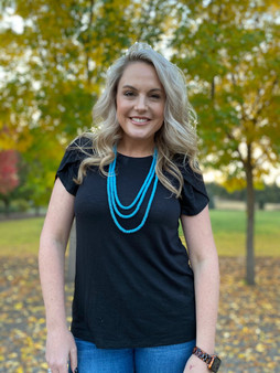 Multi Strand Necklace: Turquoise Long