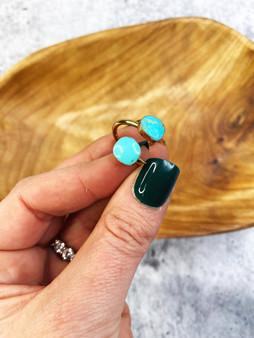Turquoise Stone Wrap Ring
