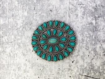 Pop Socket: Turquoise Concho