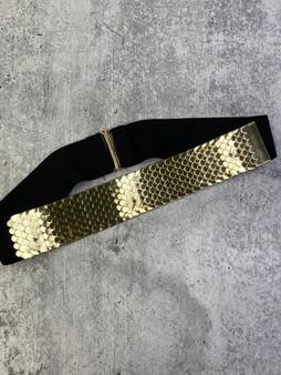 Stretch Gold and Black Belt