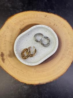 Triple Hoop Earring