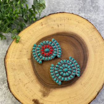 Turquoise and Silver Hair Barrette