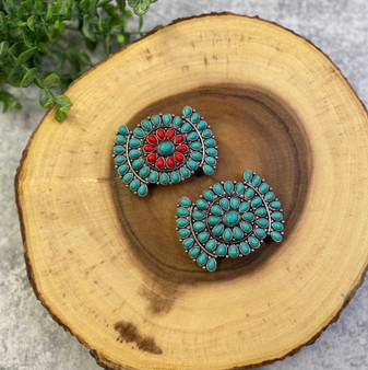 Turquoise and Red Barrette