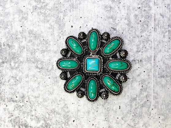 Pop Socket: Green and Turquoise Concho